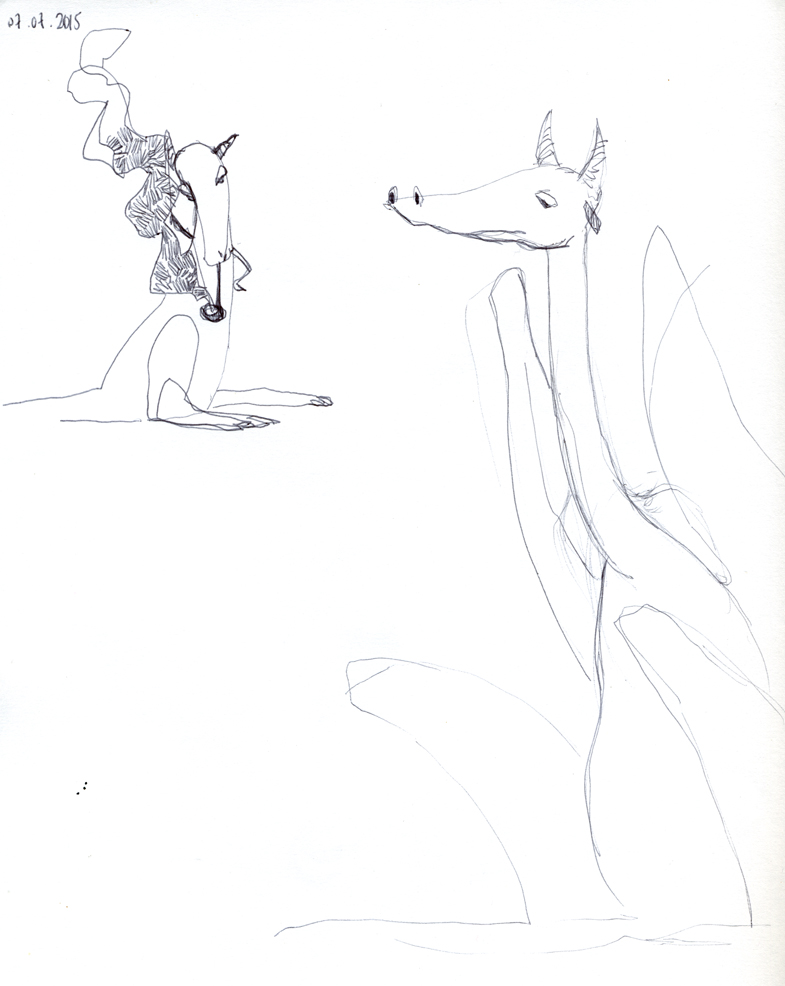 croquis dragons