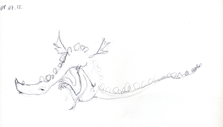 croquis dragons juillet