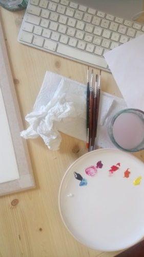 Palette et pinceaux