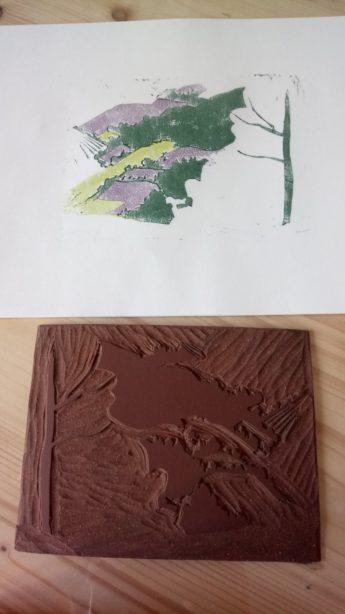 Linogravure troisième couleur