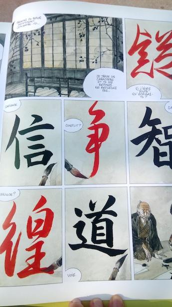 Calligraphie japonaise par Pascal Krieger - L'Encre du Passé BD - Japon Relation Maître Elève