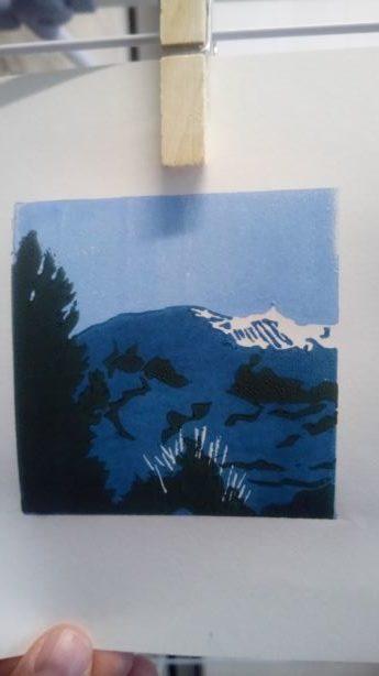 Le Mont Ventoux, Vaucluse, gravure terminée