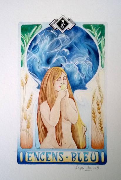 Encens Bleu : illustration complète terminée