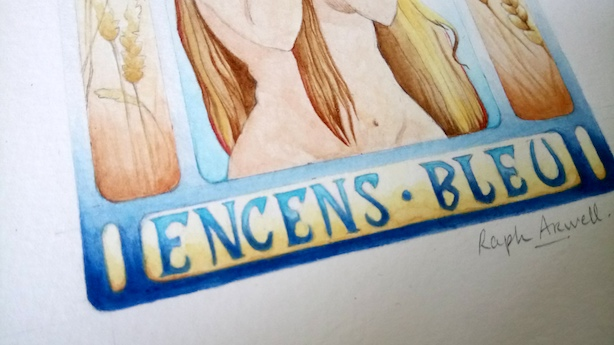 Encens Bleu, inspiration Mucha