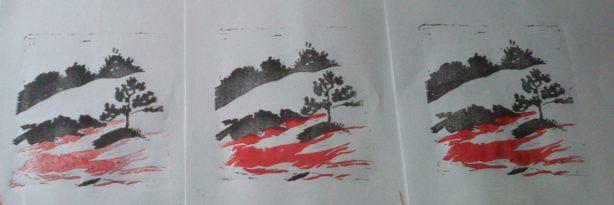 linogravure deux couleurs