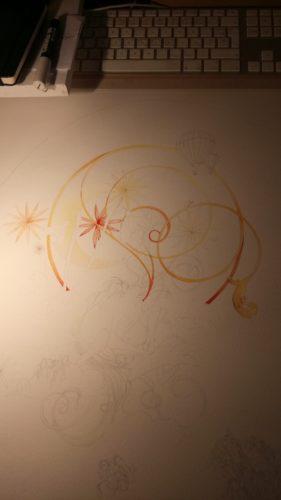 Peinture des arabesques