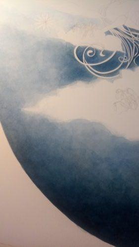 Détail peinture du ciel