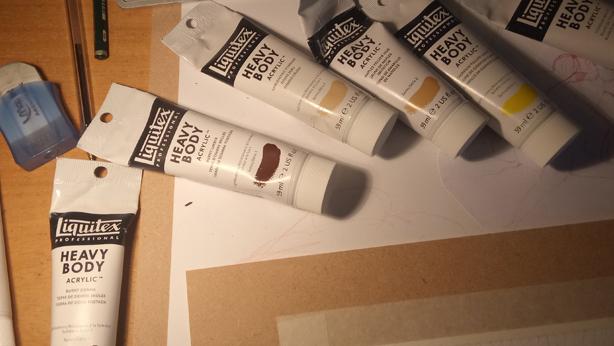 peindre outils matériel artiste