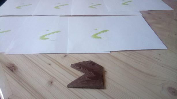 linogravure première plaque