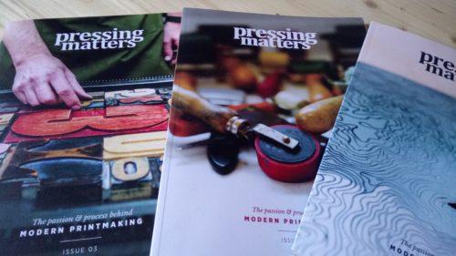 pressing matters magazine linogravure