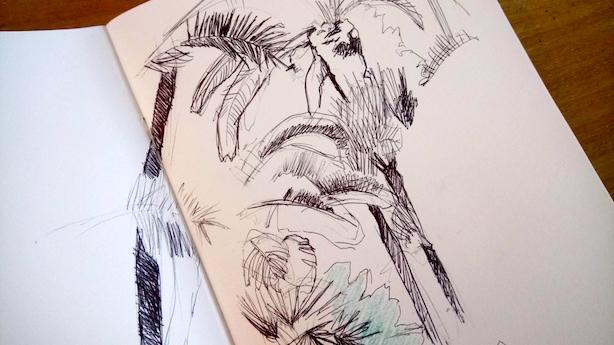 croquis cahier de dessin