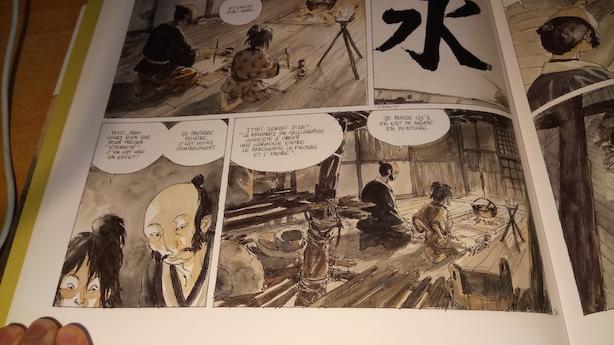 BD l'Encre du Passé - Calligraphie Japon Maître élève