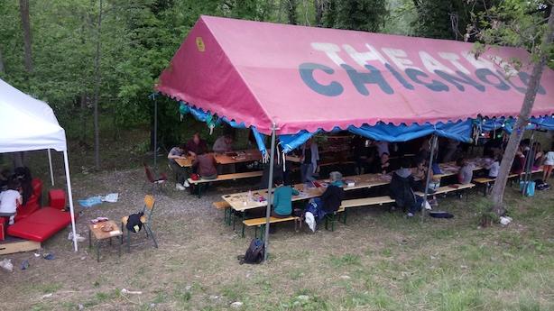 L'atelier de gravure sur bois, festival en plein air