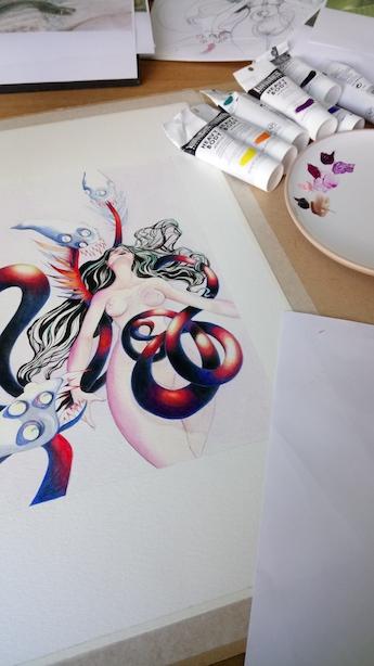 Peinture de l'illustration