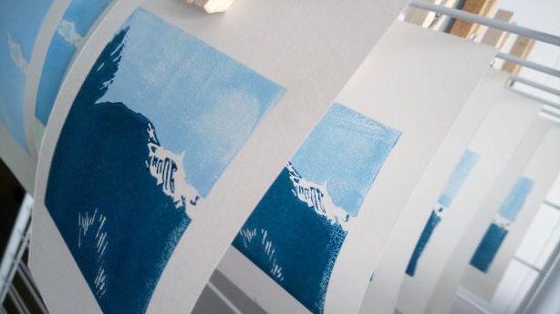 Séchage artisanal de la gravure