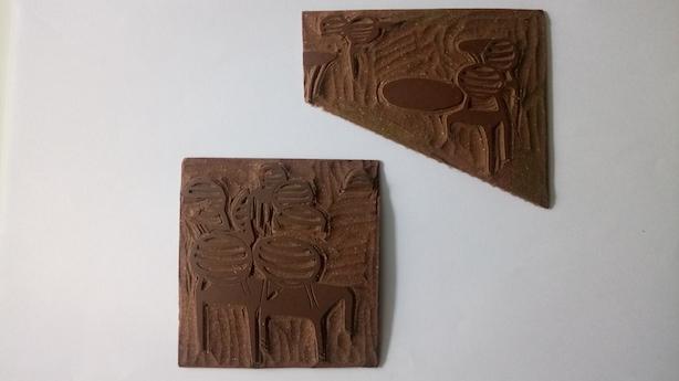 Linogravure deux plaques