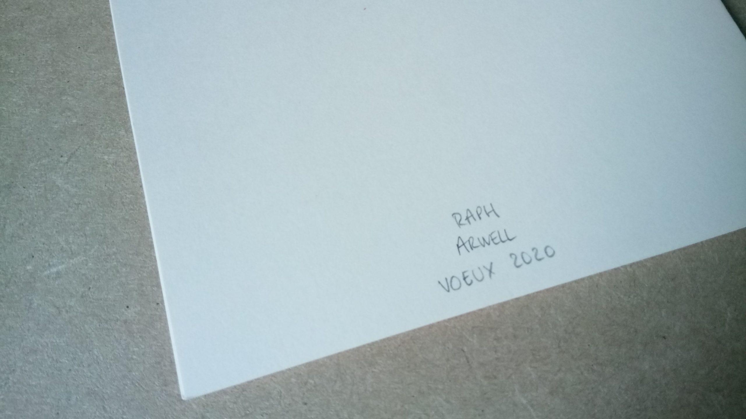 Cartes de vœux 2020 signées à la main